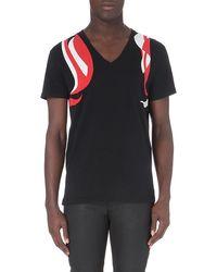 Alexander McQueen Swirl Harness Cotton-jersey T-shirt - For Men - Lyst