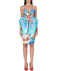 Moschino Froggy Loops Bow Dress Blue - Lyst