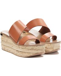 Chloé Leather Cork Wedge - Lyst