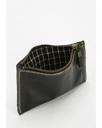 Liebeskind - Liebeskind Kiwi Distressed Leather Zip Pouch - Lyst