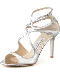 Jimmy Choo Ivette Strappy Metallic Sandal - Lyst