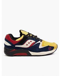 Saucony X Play Cloths Grid 9000 Motocross Sneakers - Lyst