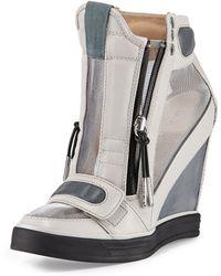 L.a.m.b. Stephanie Meshpanel Wedge Sneaker - Lyst