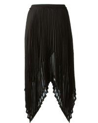 Enza Costa Black Pleated Skirt - Lyst
