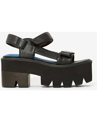 Nasty Gal Jeffrey Campbell Mayovista Leather Platforms - Lyst