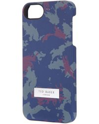 Ted Baker - Cannon Camo Print Iphone Case - Lyst