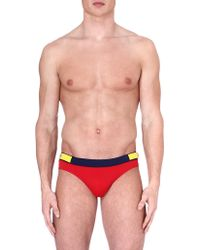 DSquared2 Branded Swimming Briefs Red Blue Yellow - Lyst
