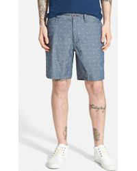 Howe 'Iron Sky' Anchor Jacquard Chambray Shorts - Lyst