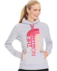 The North Face Halfdome Logo Hoodie Sweatshirt - Lyst