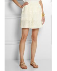Alice By Temperley - Fleur Lace And Georgette Mini Skirt - Lyst