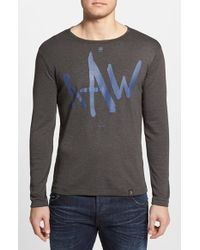 G-Star RAW Men'S 'Rackpal 2' Extra Trim Fit Long Sleeve Graphic T-Shirt - Lyst