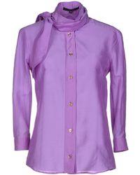 Gucci Purple Shirt - Lyst