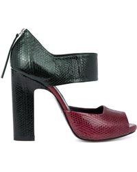 Pierre Hardy Colour-block Platform Sandals - Lyst