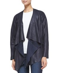 Bagatelle Leather Waterfall Jacket - Lyst