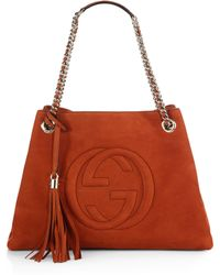 Gucci Soho Suede Shoulder Bag - Lyst