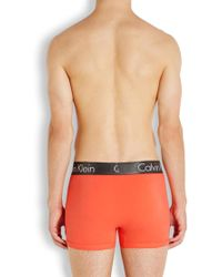 CALVIN KLEIN 205W39NYC - Orange Stretch Cotton Boxer Briefs - Lyst