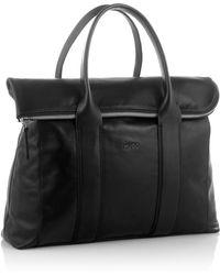 HUGO Business Bag 'Emirage' In Leather - Black