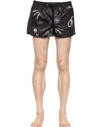 Diesel Tattoo Printed Nylon Swimming Shorts - Lyst