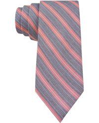 Calvin Klein Coral Classic Bar Stripe Skinny Tie - Lyst