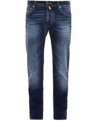 Jacob Cohen Blue Slim-leg Jeans - Lyst