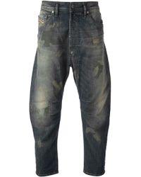 Diesel Blue Short Jeans - Lyst