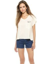 Wildfox Love Pocket Tee - Vintage Lace - Lyst