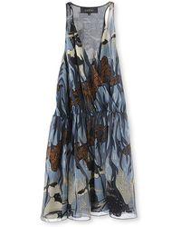 Gucci Printed Silk Dress - Lyst