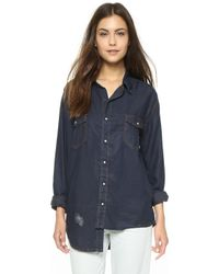 One Teaspoon Liberty Shirt - Capri Wash - Blue