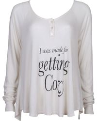 Wildfox Get Cozy Lagoon Henley Thermal - Lyst