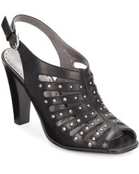 Adrienne Vittadini Gentri Studded Leather Pumps - Lyst