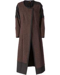 Comme des Garçons Panelled Color Block Overcoat - Lyst