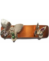 Rodarte Orange Butterfly Barette - Lyst