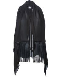Lost & Found - Fringed Sleeveless Gilet - Lyst