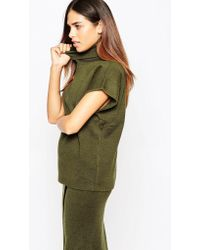 Warehouse - Funnel Neck Top - Lyst