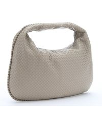 Bottega Veneta New Sand Intrecciato Leather Large Shoulder Bag - Lyst