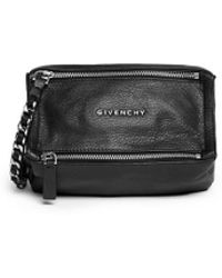 Givenchy 'Pandora' Leather Wristlet Pouch - Lyst