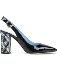 Studio Pollini | Patent Leather Slingback Pumps | Lyst