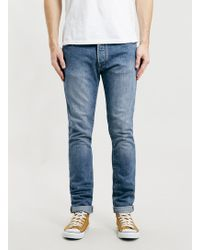 Topman Ltd Skinny Fit Blue Jeans - Lyst
