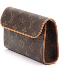 Louis Vuitton Brown Waist Pouch brown - Lyst