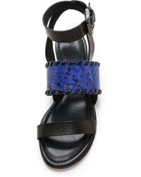 Studio Pollini - Flat Sandals - Cobalt - Lyst