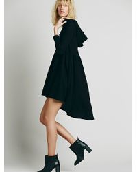 Free People Comfy Hooded Dress black - Lyst