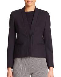 Max Mara Holly Stretch Wool Collarless Jacket black - Lyst