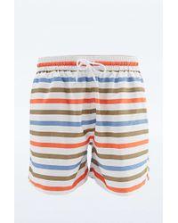 Farah Urban Exclusive Multi-stripe Swim Shorts In White