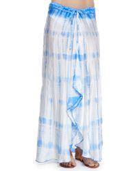 Letarte Salt Water Jewels Tie-Dye Maxi Skirt - Lyst