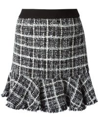 Moschino Cheap & Chic Patterned Boucle Skirt - Lyst