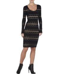 BCBGMAXAZRIA Tanya Scoop-Neck Lace Dress - Lyst