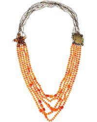 Iradj Moini - Orange Carnelian Yellow Quartz Necklace - Lyst