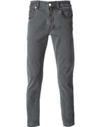 Pt05 Gray Skinny Trousers - Lyst