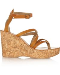 K. Jacques - Cunegonde Leather Wedge Sandals - Lyst