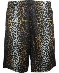 Jeremy Scott for adidas Flap Detail Leopard Print Basketball Shorts - Black